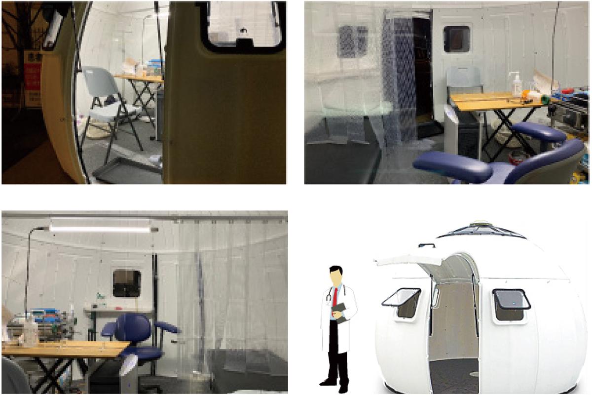 イージードームハウスが院内感染を防ぐ隔離スペースに!キャンピングカーが「新型コロナワクチン接種カー」に! 医療従事者を支えるためのプロジェクト!