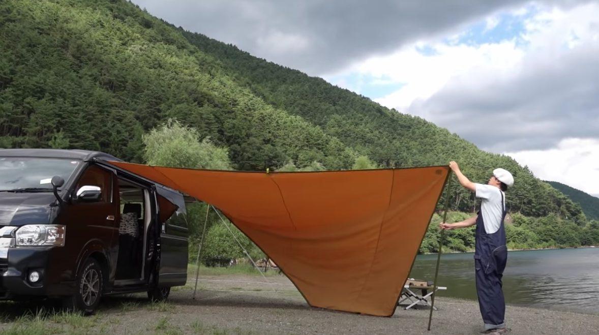 コンパスでソロキャンプ!